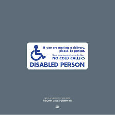 SKU023 - Disabled Person Lives Here - Front Door Letter Box Sign / Sticker