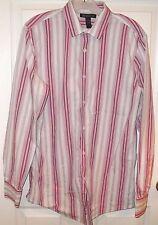 Mens INC International Concepts DRESS SHIRT~sz MEDIUM~NEW~$75~SLIM FIT Pink Gray