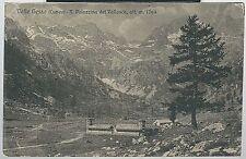 1927 VALLE GESSO R. PALAZZINA DEL VALLASCA cartolina viaggiata Valdieri Valasco