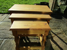 Nest of 3 solid Pine Tables