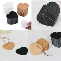 100pcs Hang Tags Kraft Paper Birthday Wedding Party Blank Gift Cards Label Hot