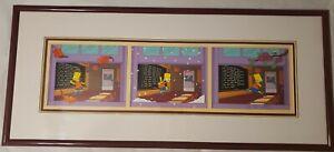 The Simpsons Blackboard Bungle Ltd. Ed. Pan Cel Fox Matt Groening Signed Framed