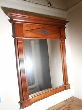 Very Fine carved Wood w/ Stone Inset Cartouche Neoclassical Style Mirror 20th c.