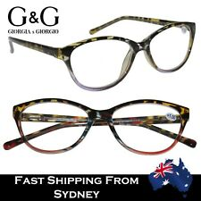 Women Ladies Reading Glasses Italy Design Purple Red Spring Loaded +1.0 to +3.5