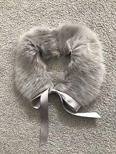 Baby Girls Grey Faux Fur Collar