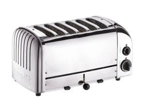 Dualit 60144 Classic Vario Slot Toaster 6 Slice Polished Chrome Stainless Steel