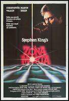 LA ZONA MORTA Manifesto Film 4F Poster Originale Cinema STEPHEN KING CRONENBERG