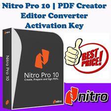 Nitro Pro 10 PDF Creator, Editor, Viewer and Converter Lifetime Key