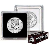 BCW 2x2 Snaplocks Half Dollar Size Coin Holders - Box of 25