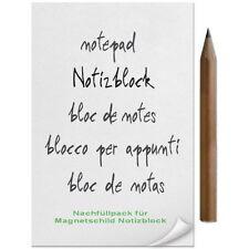►►NACHFÜLLPACK für Magnetschild/Notizblock BLOCK und STIFT NEU OVP!!