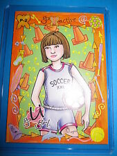 SLICK SOCER SKILLS PRE ORDER CARD 2004 LOCASMARTS PROMO P-2 MINT U-GO GIRL