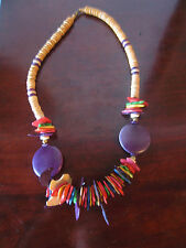 Vintage African Style Tribal Necklace Necklace