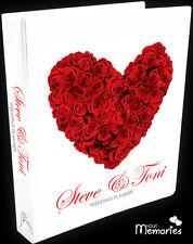 Wedding Planner/Red Rose Heart Gift Personal /Diary/Organiser/Engagement Present
