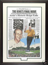 """The Masters - Arnold Palmer 2004 """"The King's Final Wave """"  (Doug London Orig.)"""