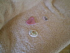 Margaret Lerman Porcelain Tiles, (1)Butterflies (1) Floral, (1) Heart Bead