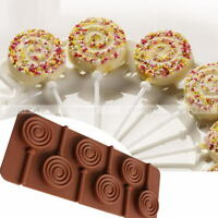 6 Holes Cake Mold Soap Mold Silicone Mould For Candy Chocolate Lollipop NEW