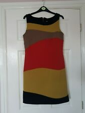 G5 WOMANS LUCY SLEEVELESS MULTI PANELLED STRETCH FITTED KNEE LENGTH DRESS 34""
