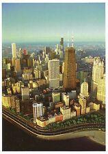 Postcard Illinois IL Chicago Oak Street Beach Lake Michigan Skyline MINT
