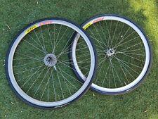 Made in France Rigida Dp18 Road Wheelset Shimano 600 Hubs Pair Vgc Vintage 700c