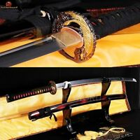Hand Forge 1060 Carbon Steel Japanese Sword Samurai katana Full Tang Blade Sharp
