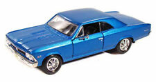 1966 CHEVY CHEVELLE SS396 BLUE 1/24 SCALE DIECAST CAR BY MAISTO 31960BU