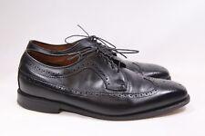 Men's Allen Edmonds Larchmont Wingtip Oxfords Black Leather 9 EEE (wide) USA