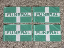 FOUR Funeral Flag DARK GREEN new HEARSE Funeral Coach Limo