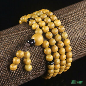 energy Gemstone Stretchy Beaded Bracelet Necklace 6mm 108 Prayer Healing Beads