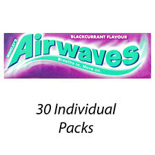 WRIGLEYS AIRWAVES BLACKCURRENT MENTHOL FLAVOUR CHEWING GUM x 30 PACKS 132526
