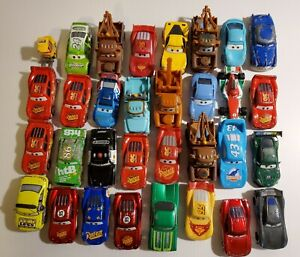 Disney Pixar Cars Movie Diecast & Plastic   lot of 32 cars Various conditions