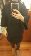 capa abrigo en negro manga francesa 40 L coat jacket Mantel Kappe chic Blogger
