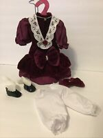 """Vintage Style Victorian Dress-Bloomers-Shoes/Bisque-ComposItion-16-18"""" Doll(R23"""