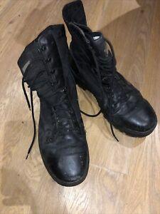 HITEC MAGNUM CLASSIC BOOTS BLACK HI TEC MILITARY POLICE ARMY CADET PARAMEDIC 11m