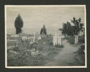 Vintage Landscape Photos, Silver Gelatin, In Cemetery, San Gabriel Mission, CA