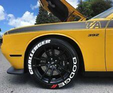 DODGE CHALLENGER Permanent Tire Lettering Sticker 16''- 20''  (9 Kit)