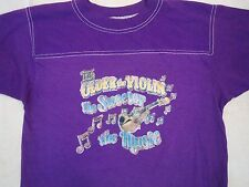 Vintage The Older the Violin the Sweeter Music Roadrunner Iron 70's T Shirt M