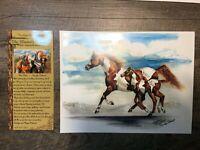 Carolyn Valcourt Horse and Foal Print WESTERN ART PRINT,8.5 X 11