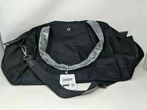 LULULEMON OUT OF RANGE DUFFEL 33L BAG - BLACK GYM TRAVEL