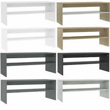 Modern Coffee Table With Storage Shelf Living Room Furniture Chipboard 9 Colour