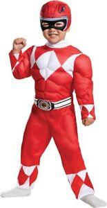 Red Power Rangers Samurai Muscle Child Costume Boys Jumpsuit Belt Disguise