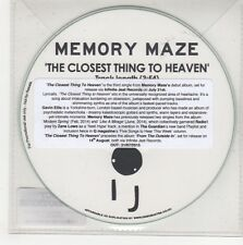 (GN581) Memory Maze, The Closest Thing To Heaven - 2015 DJ CD