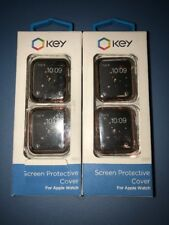 Lot Of 2pc Okey Screen Cover  for Apple Watch 42mm - 1 Gold And 1 R.Gold Covers