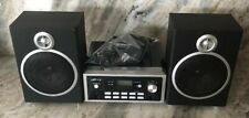 gfm A7Cd6919 Micro Music System Black W Cd 2 Speakers-Awesome Sound-Fits Nice