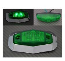 2 x 12V Feux de gabarit LED Vert contour de phare chromé CAMION REMORQUE CARAVAN