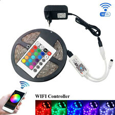Linkstyle 16.4ft DC12V SMD 5050 Wireless Controlled Waterproof 300-LED RGB LED Strip