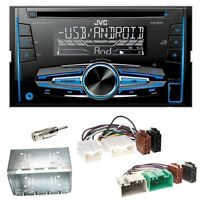 JVC KW-R520 Autoradio CD USB MP3 AUX Einbauset für Volvo S40 V40 850