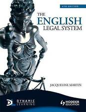 The English Legal System, 6th Edition by Jacqueline Martin 1444107585
