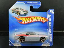 FASTER THAN EVER DODGE CHALLENGER CONCEPT GRAY SHORT CARD HOT WHEELS 1/64