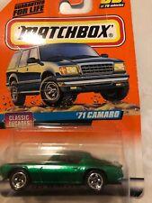 Matchbox '71 Camaro Classic Decades 39 Green 1997 New