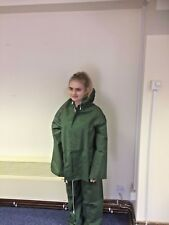 Waterproofs PVC Jacket and trousers Unisex Olive Green - Size Medium - Box of 10